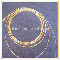 1.0mm fiber optic side glow cable lighting for crystal curtain