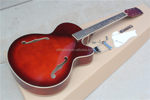 Hot Sale Factory Red DIY Electric Guitar with Maple Body and Neck,Rosewood Fretsboard,20 Frets,can be customized