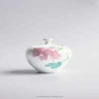 High end tea store selling Environmental protection and Healthy Hand Painted Underglazed Porcelain tea canister