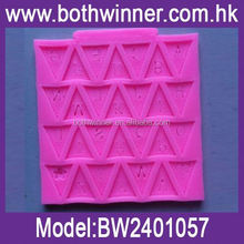 high quality food grade silicone cook waffle mold ,H0T101 toblerone chocolate mould