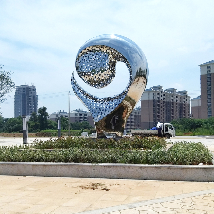 Large outdoor stainless steel sculpture