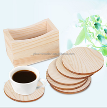 free sample wooden coffee cup mat pine wood cup mat pad coster