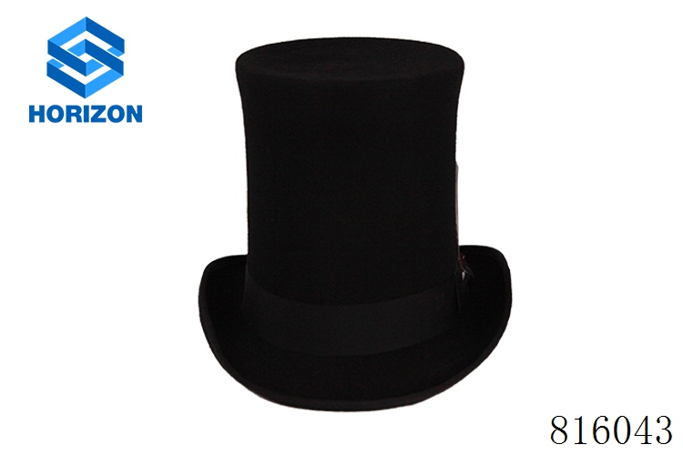wholesale custom made wool felt men top hats president hat