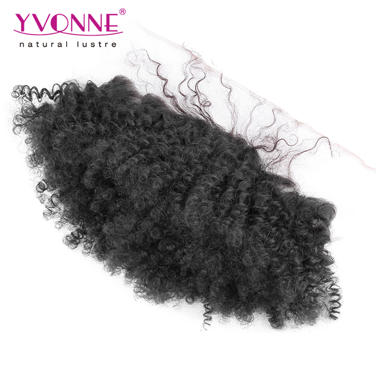 Guangzhou Yvonne Hair Afro Kinky Curly Human Hair Lace Frontal Piece