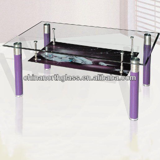 Living room furniture centre glass table