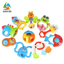 360 degree rotation animal teether set handbell 3101 musical plastic baby rattle toys