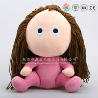 cute handmade dress up plush soft cotton stuffed cloth dolls