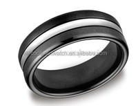 2014 germany suppliers,fashion stainless steel jewelry two tone black stainless steel rings CMSTR-2013-043