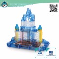 New premium Transparent Plastic Dream Castle Small Animal Cages Hamster Cage Equipped with moat tube