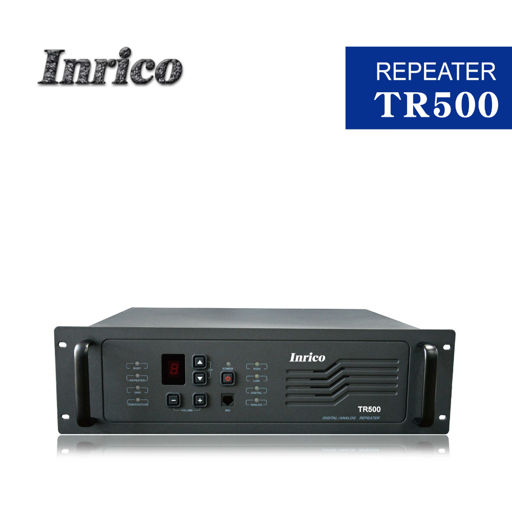 Inrico digital full calling repeater TR500 400-470mhz with Low power 10W/ high power 25W / 45W