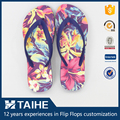 custom eva name brand printed flip flops thongs beach slipper