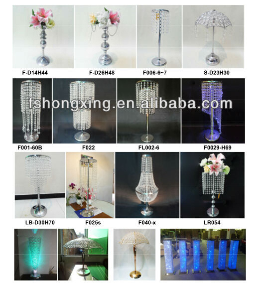 PLC02 pillar decoration for wedding stage centerpieces