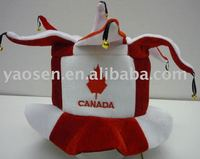 Canada flag funny clown jester hats