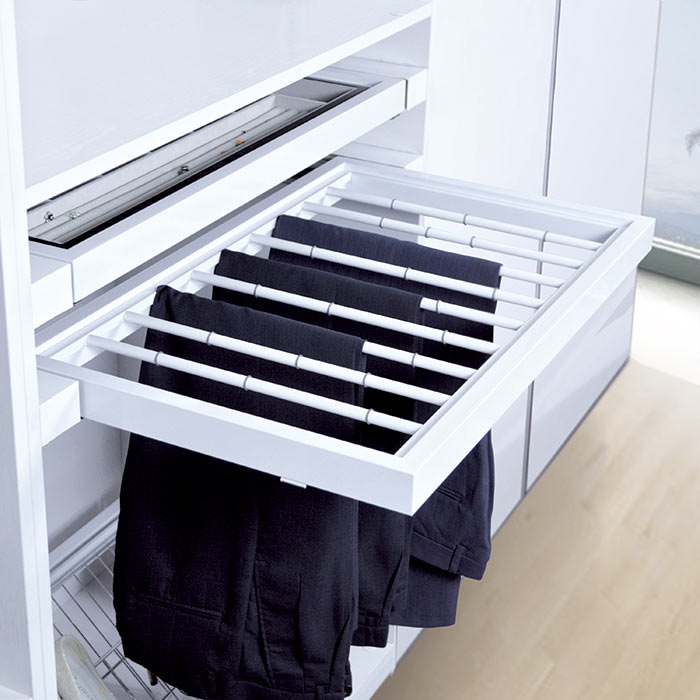 Closet organizers closet dividers Pull Out Trouser Rack