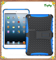 Hybrid Combo Kids Holder Stand Cover Holder Shell Tablet Blue Case For ipad mini 4