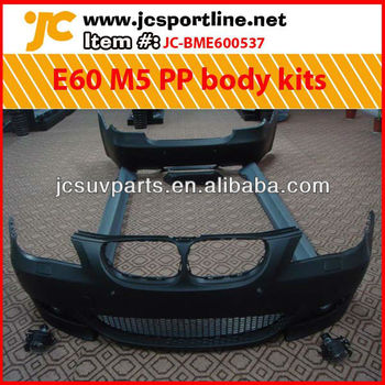 For BMW E60 M5 PP body kit (including front bumper, fog lamp, side skirts and rear bumper)