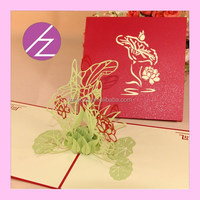 Christmas holiday 3d lace pop up card 3D-15