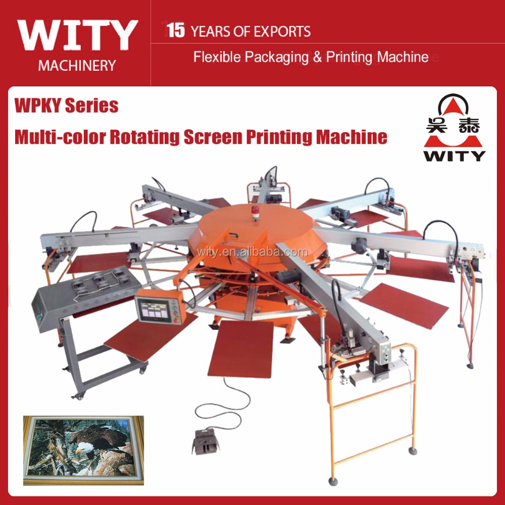 WPKY Series Multi-color automatic t shirt printing machines for sale