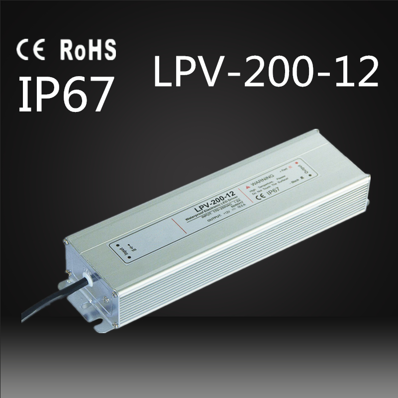 220VAC input 12VDC output power supply 200w waterproof led driver