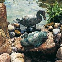 large outdoor sculptures metal craft bronze duck sculpture