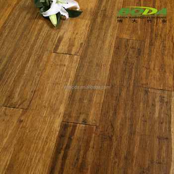 hand scraped carbonized solid bamboo flooring-cuting
