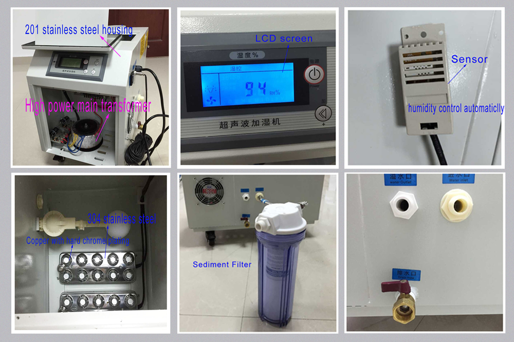 Industrial ultrasonic greenhouse humidifier machine