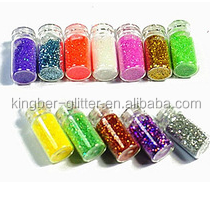 Chameleon Pigment Cameleon Color Change Nail Polish with Color Shifting Pigment and Glitter