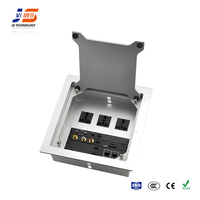 JS-Z400 AC+HDMI+VGA Conference Table Multimedia Desktop Socket Cable Connection Box