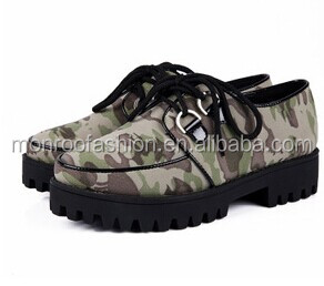 Monroo NEW DESIGN WOMEN CANVAS SHOES CAMOUFLAGE SPONGE FLAT STUDENT GIRL THIN SHOES