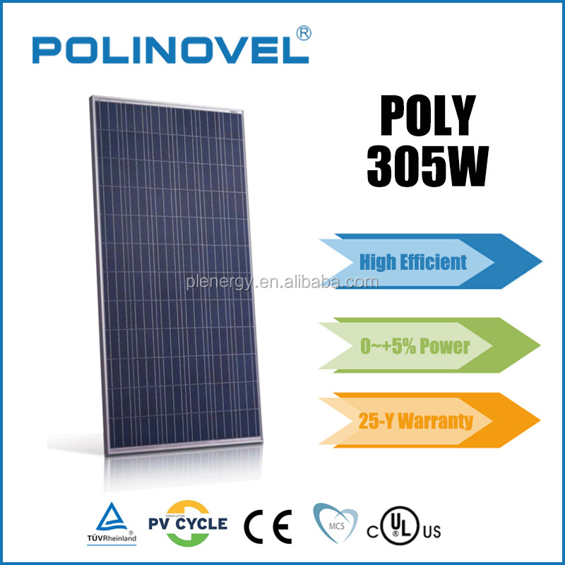 72 cell solar photovoltaic module price 305w poly