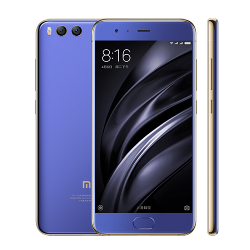 Original Xiaomi Mi6 6GB 64GB Snapdragon 835 Octa Core Cellphone 5.15 Inch NFC 12MP Dual Back Cameras Mi6 Mobile Phone