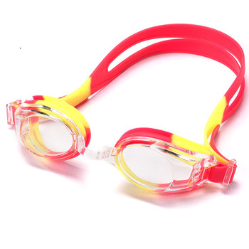 Printed anti fog various colors silicone designed swimming goggles