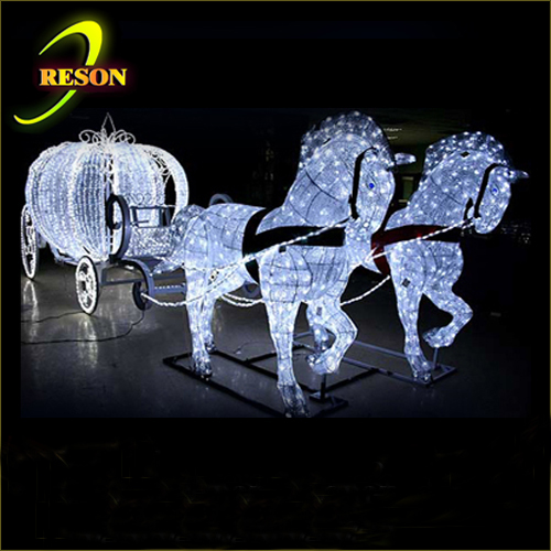 Beautiful Designed Wedding Lighted Up Carriage Horse Carriage