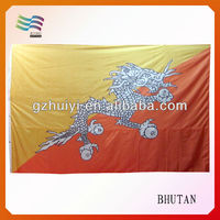 Red Orange Yellow Fabric National Flags of Different Countries