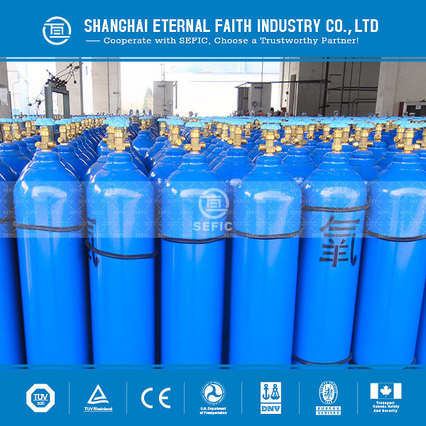 2018 EN1964-1Standard High Pressure Seamless Steel Oxygen Gas Cylinder with Low Price