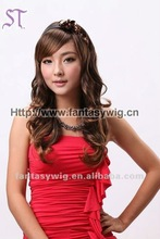 Long big wave korean synthetic fiber wigs