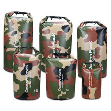 Camouflage Waterproof Dry Bag 500D PVC Backpack With Adjustable Shoulder Strap Ideal for Beach, Hiking & Swimming