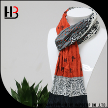 Made in China custom print mens cotton scarf