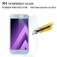 9H Milo 2.5D curved edge premium tempered glass screen protector for Galaxy A7 2017 OEM&ODM available