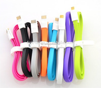 Hot Sale Corlorful 22cm flat magnetic and Portable micro USB Data cable
