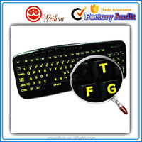 Removable Elegant fluorescent keyboard sticker for laptops using at night
