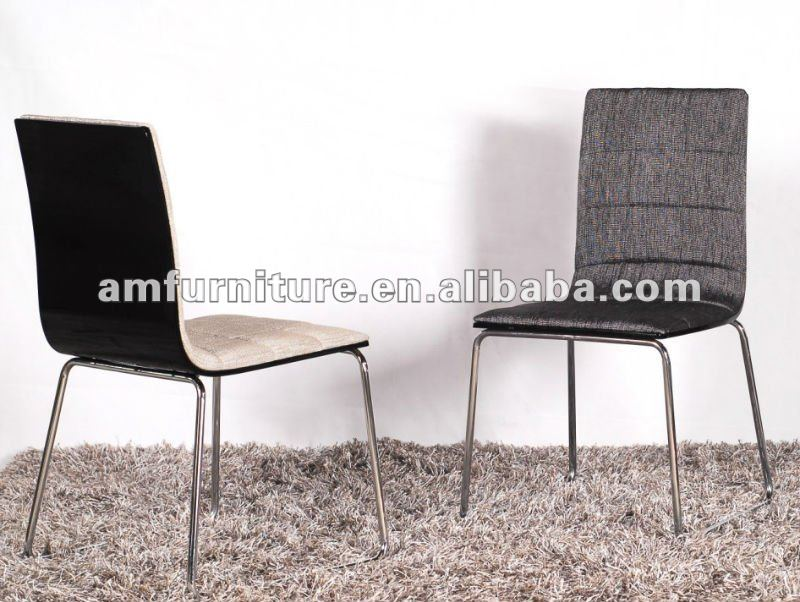 New style dining chair with cloth seat and back and chrome legs