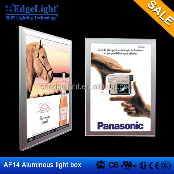 aluminum picture frame film poster showing display led advertising screen