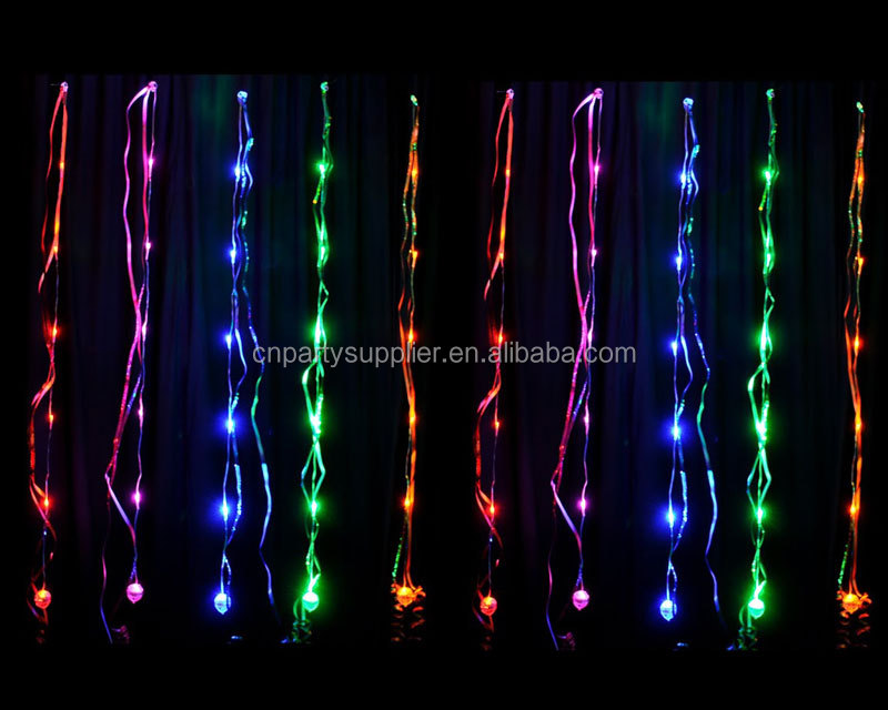 sparkle ribbon assorted colour with led lights buy led