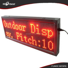 P10 red running message text led display board, led scrolling message small display,small led display board