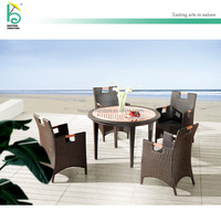 special design PE rattan teak wood outdoor garden furniture