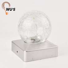 Beautiful 10 warm white clean decorative solar lights bottle led light glass ball