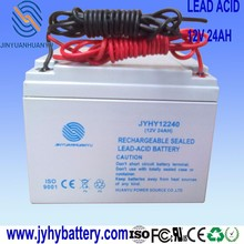 wind generator system,AGM 12V 24AH Deep Cycle Sealed Lead Acid Rechargeable Solar Battery with cable