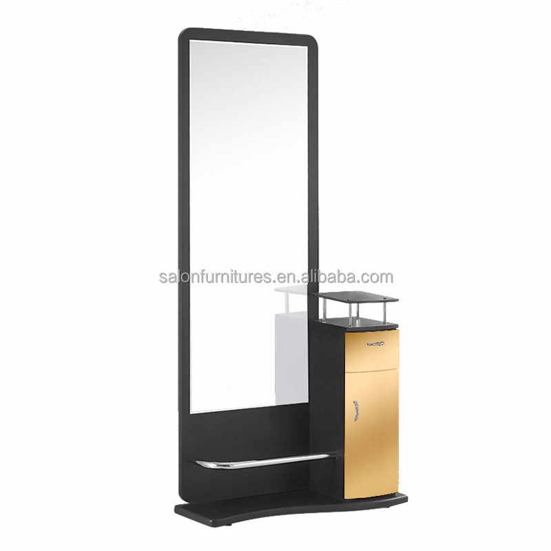 Hairdressing salon styling mirror Station mirror styling stations Stainless steel mirror station