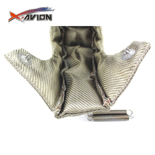 Hot Selling Cheap Custom T4 Titanium Lava Cover Heat Shield Exhaust Turbo Blanket with Fastener Springs
